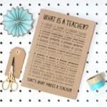Notebook gift for teachers